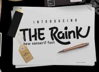 The Raink Display Font