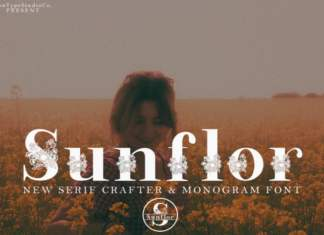 Sunflor-A New Crafter & Monogram Serif Font