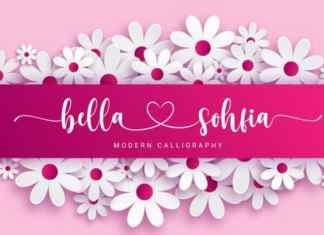 Bella Sohfia Calligraphy Font