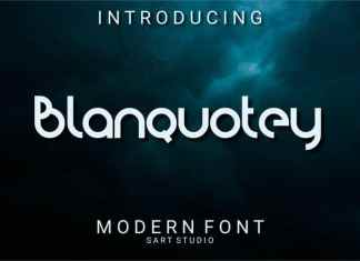 Blanquotey Display Font