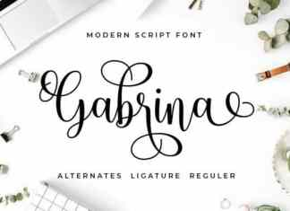 Gabrina Calligraphy Font