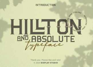 Hillton And Absolute Display Font