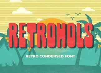 Retrohols Display Font