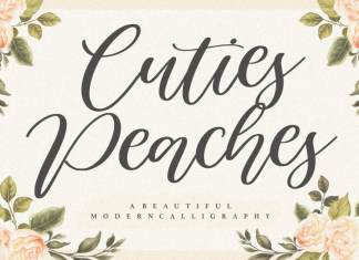 Cuties Peaches Modern Calligraphy Font