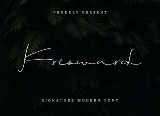 Krisward Signature Modern Font