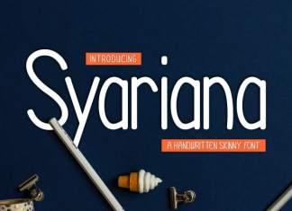Syariana Sans Serif Font