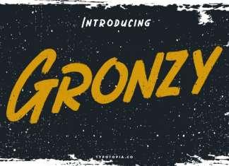 Gronzy Brush Font