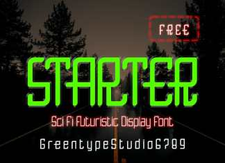 Starter Futuristic Font