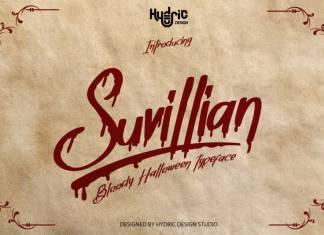 Suvillian Bloody Halloween Typeface