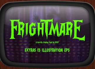 Frightmare Display font