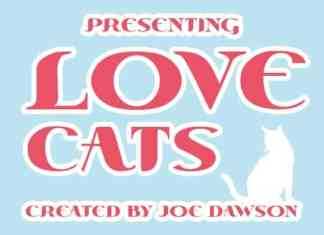 Love Cats Display Font