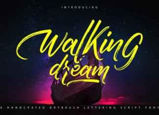 Walking Dream Brush Font