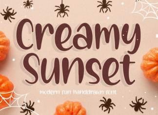 Creamy Sunset Modern Fun Handdrawn Font