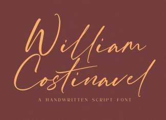 William Costinavel Handwritten Font