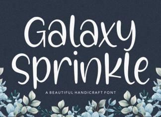 Galaxy Sprinkle Beautiful Handcraft Font