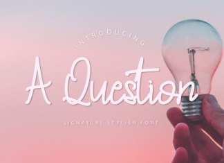 A Question - Handwritten Font