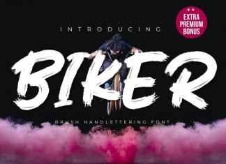 Biker Brush Font