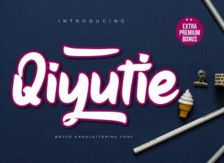 Qiyutie Script Font