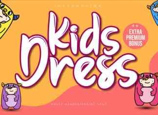 Kids Dress Brush Font