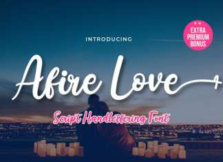 Afire Love Script Font