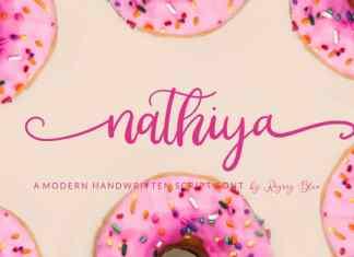 Nathiya Script Font