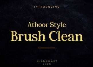 Athoor Style Brush Clean Font