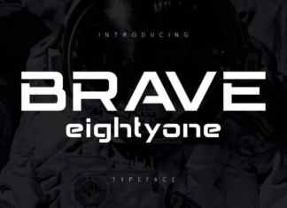 Brave Eighty Display Font