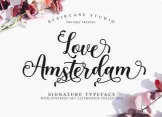Love Amsterdam Calligraphy Font