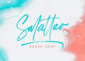 Smatter Brush Font