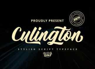 Culington Script Font