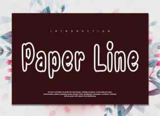 Paper Line Display Font