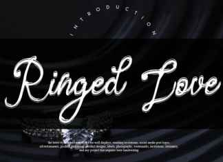 Ringed Love Handwritten Font