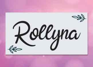 Rollyna Script Font