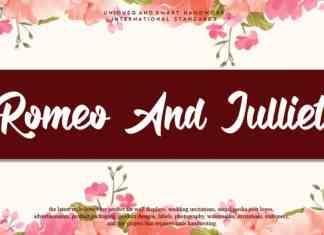 Romeo And Julliet Script Font
