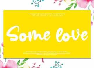 Some love Script Font