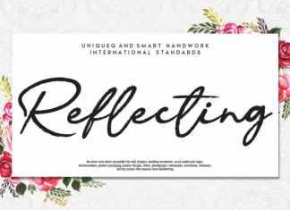 Reflecting Handwritten Font