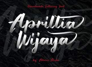 Aprillia Wijaya - Handmade Lettering Font