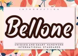 Bellone Display Font