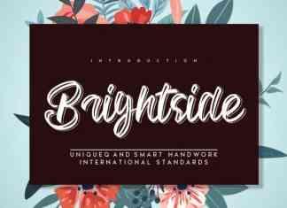 Brightside Brush Font