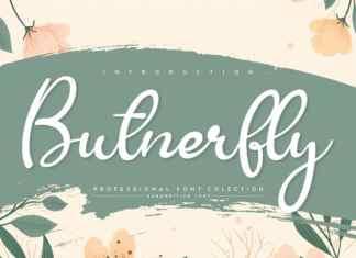 Butnerfly Script Font