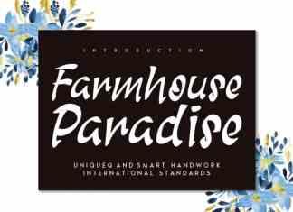 Farmhouse Paradise Brush Font