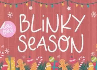 BLINKY SEASON, Monoline Font