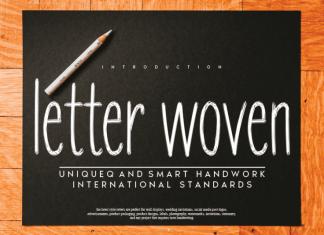 letter woven Handwritten Font