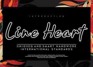 Line Heart Script Font