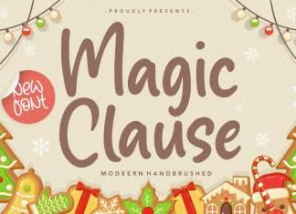 Magic Clause Modern Handbrushed Font