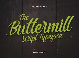 Buttermill Script Typeface