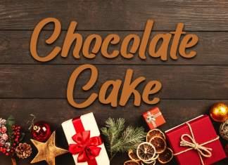 Chocolate Cake Brush Font