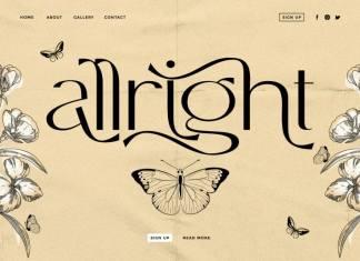 Allright - Fashionable Font