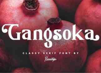 Gangsoka Serif Font