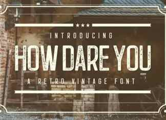How Dare You Display Font